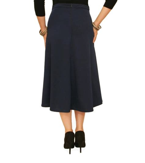 just blue navy blue ponte a line skirt