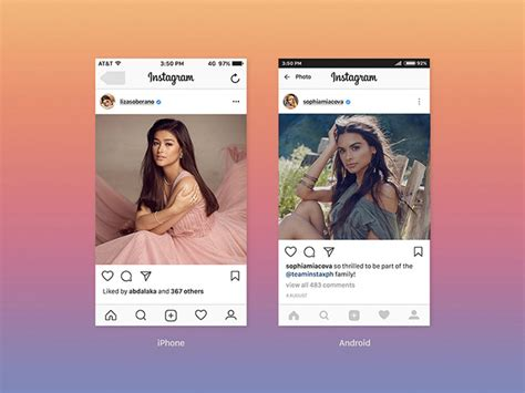 20 Best Free Instagram Mockup Templates 2018 Themelibs Instagram Feed Template