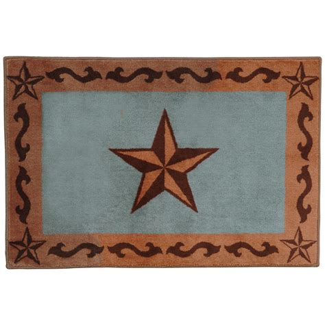 Western Bathroom Rugs Southwest Rugs Turquoise Bath Rug Lone Western Decor