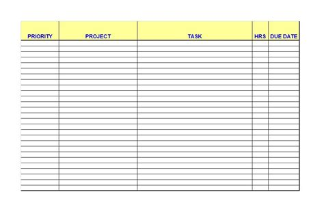 list template excel free 51 free printable to do list checklist templates excel
