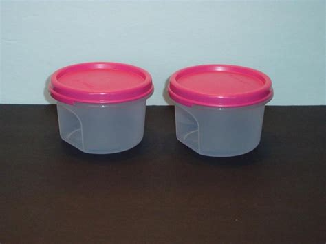 Tupperware 7 Circle Container tupperware clear storage containers modular mates 2pc