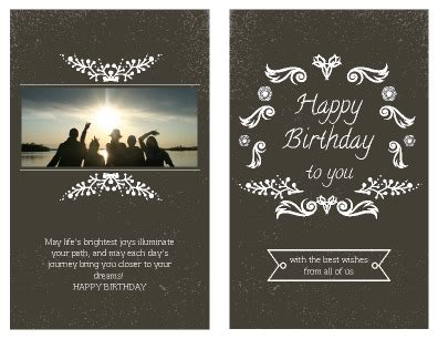 print at home greeting card template front half fold printable birthday card easy to edit and