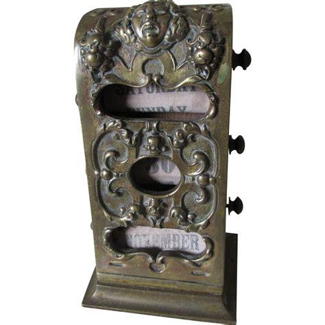 Antique Bronze Desk L by Antique C1880s Bronze Desk Top Perpetual Calendar From Neatcurios On Ruby