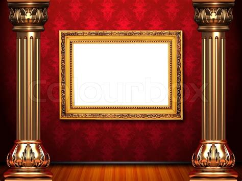 Auditorium Floor Plans by Golden Frame On Theatre Red Curtain Stage Stock Photo