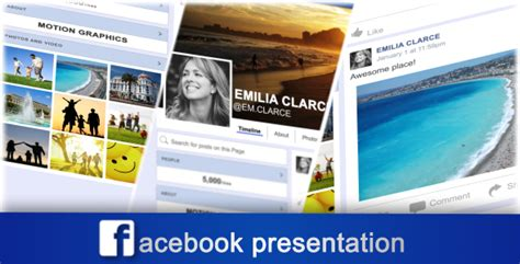 template after effects presentation facebook presentation websites after effects templates