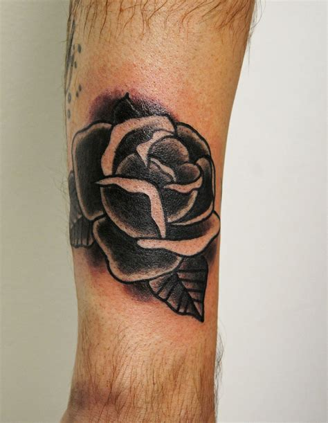 black and gray rose tattoo meaning traditional black traditional black