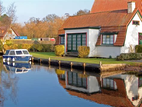Cottages Including Ferry by River Bure Norfolk Broads Including Coltishall Wroxham