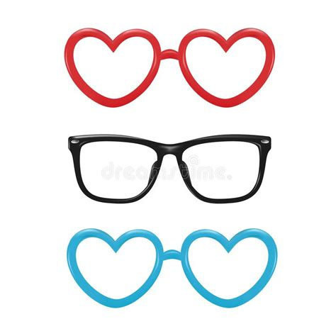 photo booth backdrop design vector vector realistic eyeglasses heart shape photobooth stock