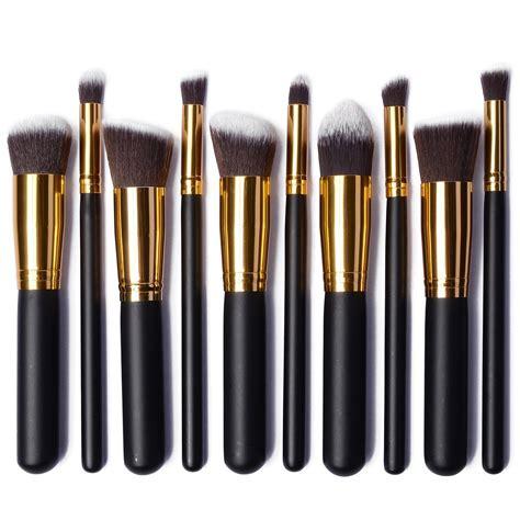 Black Set Kabuki Brush Set Gold Black Best Buys