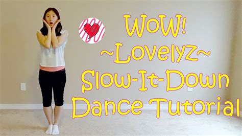 tutorial dance lovelyz wow lovelyz mirrored slow it down dance tutorial youtube