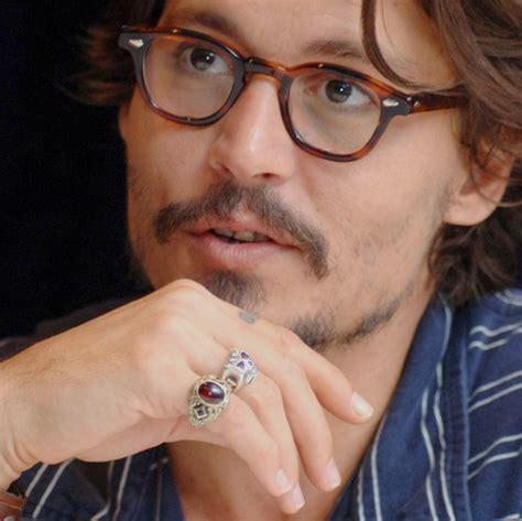 johnny depp tattoo on ring finger actor glasses hand idol image 110464 on favim com