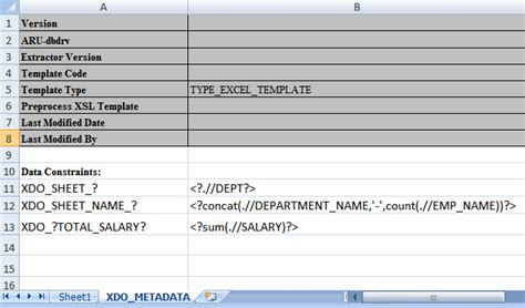 bi publisher data template exle creating excel templates in release 10 1 3 4 2