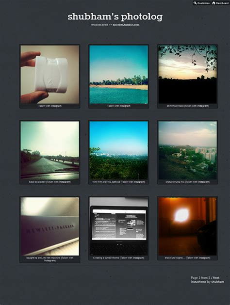 tumblr themes free instagram instatheme on behance