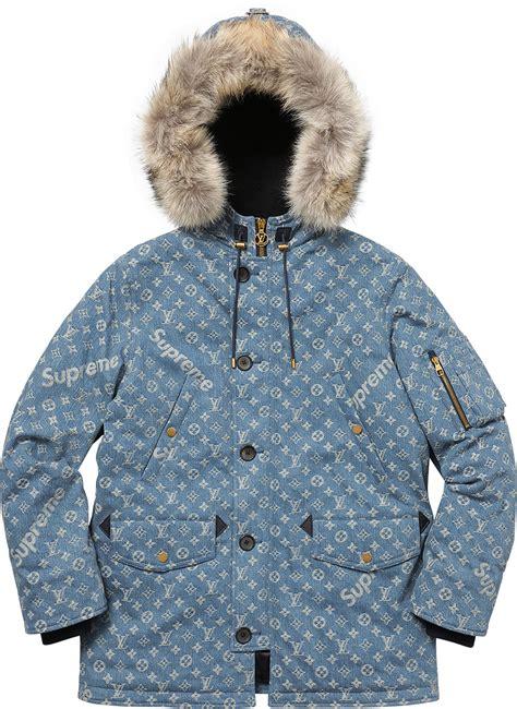 supreme jacket supreme x louis vuitton jaquard denim jacket best price