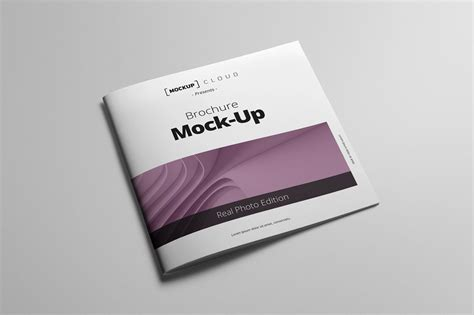 Square Brochure Mockup Mockup Cloud