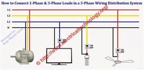 3 wire electrical wiring diagram how to connect single phase three phase loads in a