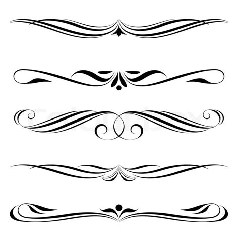 vector decorative design elements page decor decorative elements border and page rules stock vector