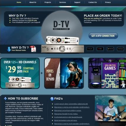 D Tv Template Free Website Templates In Css Html Js Format For Free Download 1 32mb Television Website Template