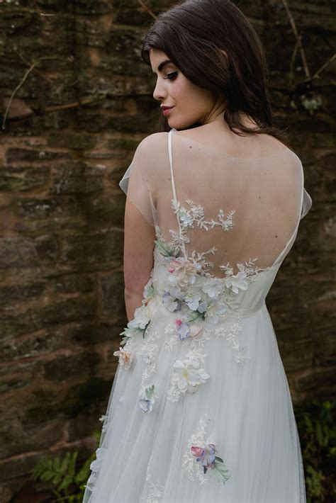 Flower Dress Wedding by Floral Wedding Dresses Beauteous Bridal Details And