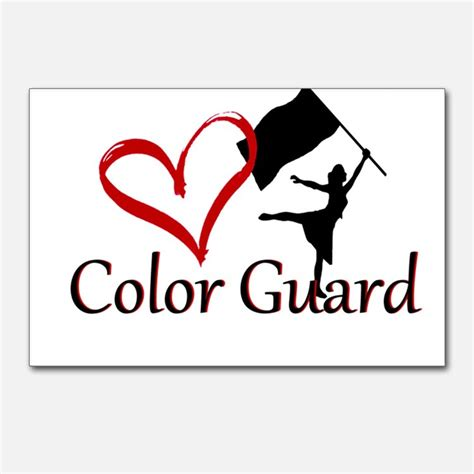 color guards color guard postcards color guard post card design template