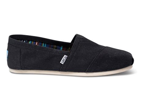 tom shoes for black canvas s classics toms 174