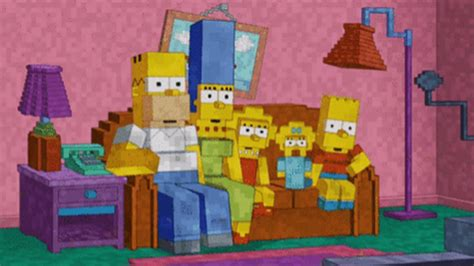 simpsons minecraft couch gag the simpsons does minecraft for couch gag boxmash
