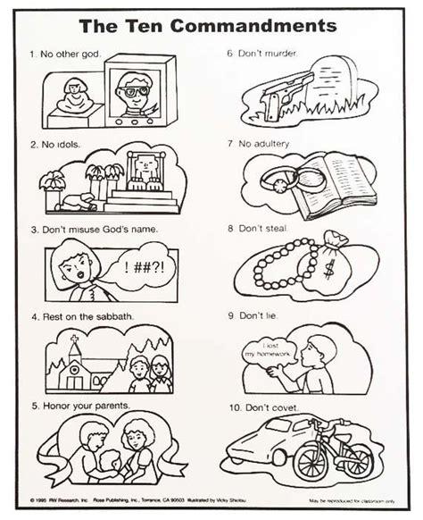 10 commandments coloring page 10 commandments coloring pages