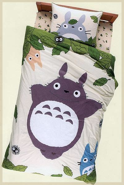 totoro bedding i must own this my neighbor totoro bed sheet set studio