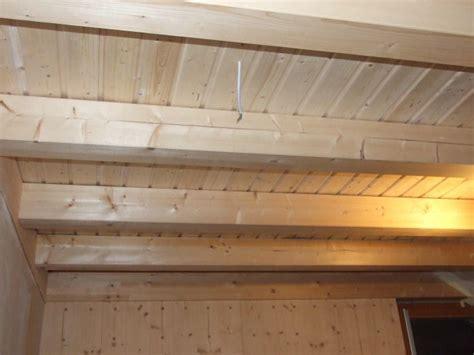 Decke Mit Holzbalken by Wir Bauen Ein Holz100 Haus