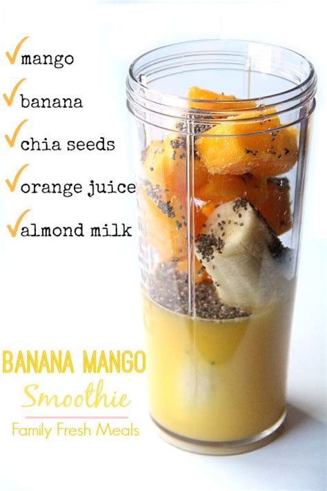 Chia Seeds Juice Detox by 17 Best Ideas About Mango Banana Smoothie On
