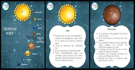 imagenes educativas del sistema solar magnifico cuaderno para trabajar el sistema solar