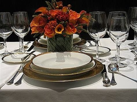 how to set up a dinner table formal dining table set up