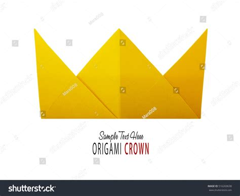 Origami Paper Crown - origami paper crown stock photo 516269638