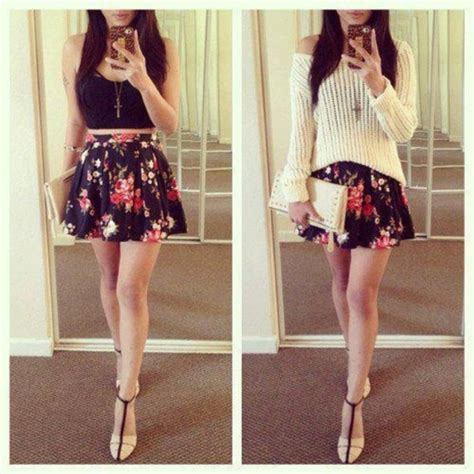 dress skirt floral mini skirt summer high