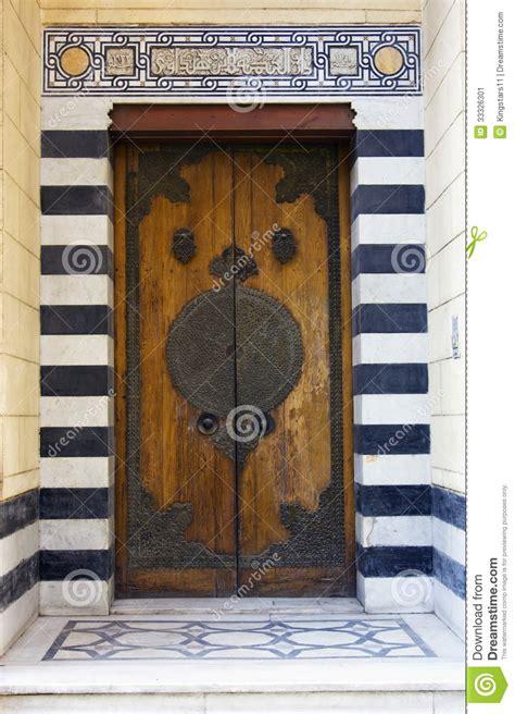 islamic style door stock image image