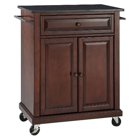 portable kitchen island target solid black granite top portable kitchen cart island