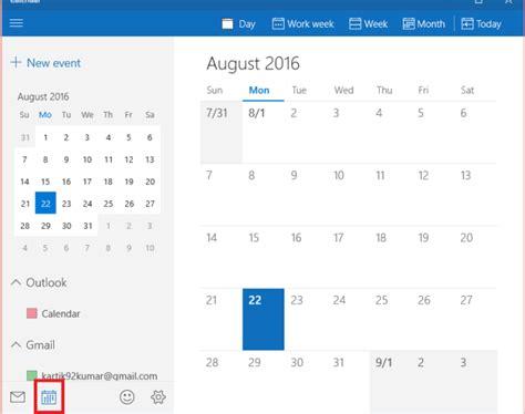 How To Use Calendar How To Use Calendar App In Windows 10
