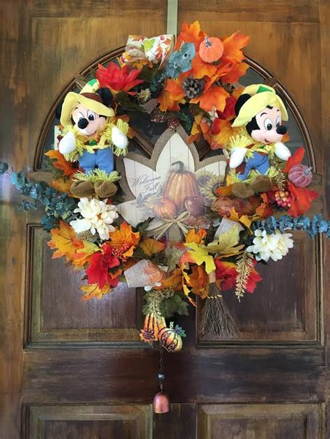 disney fall wreath diy savvy in the kitchen