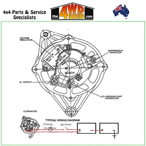 bosch alternator wiring diagram holden free