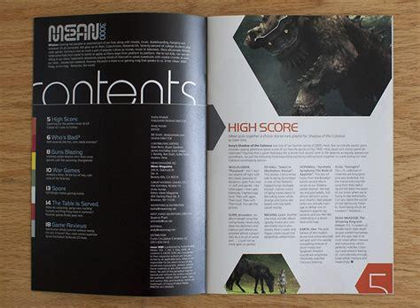 game magazine layout mean 3000 171 designsimple