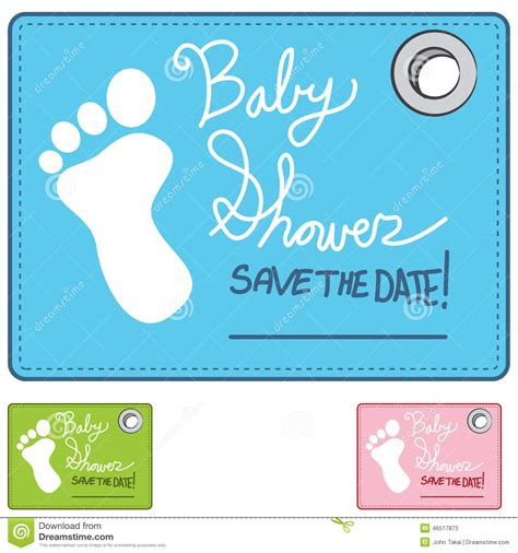 Baby Shower Reminder by Baby Shower Reminder Card Stock Vector Image 46517873