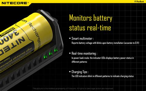 Nitecore F1 Universal Battery Charger 1 Slot For Li Ion Black T3010 2 nitecore f1 universal battery charger 1 slot for li ion