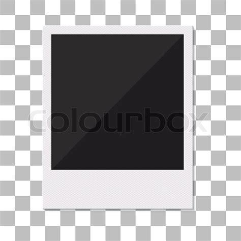 Blank retro polaroid photo frame. Vector illustration