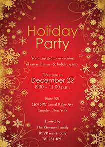 free holiday party invitation templates best template