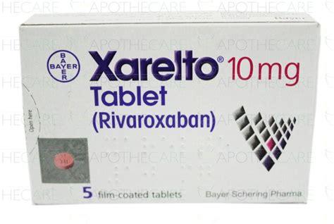 Obat Xarelto 10 Mg xarelto tab 10mg 5 s