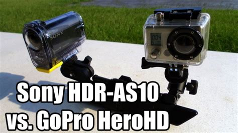 Sony Hdr As10 sony hdr as10 vs gopro herohd