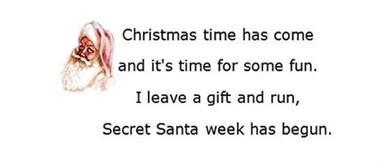 Christmas Gift Ideas For Secret Santa - secret santa poems clever sayings