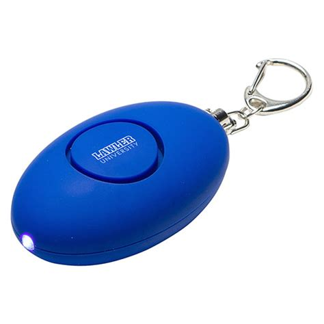 soft touch led light alarm key chain promotional soft