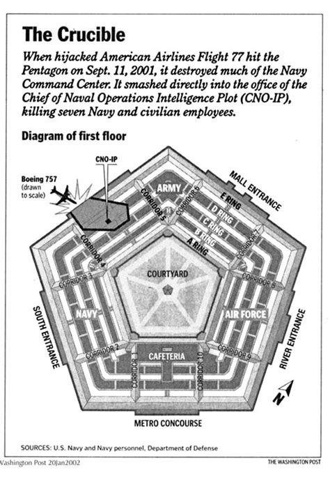 pentagon floor plan 911 an attack by political extremists using hijacked