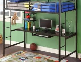 Ikea Metal Bunk Bed With Desk Full Size Bunk Bed With Desk Dark Wood Flooring Under